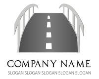 Logo of the road - a bridge vector Royalty Free Stock Photography