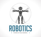 Logo - robotteknik Arkivfoto