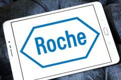 Logo Roche för farmaceutiskt företag royaltyfri foto