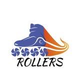 Logo roller skating. vector illustration Stock Images