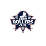 Logo roller skating. vector illustration Royalty Free Stock Photo