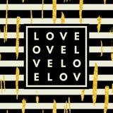 Logo romantico nel telaio Fotografia Stock Libera da Diritti