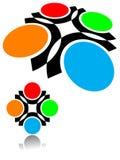 Logo rond illustration stock