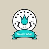Logo rond de fleuriste Photographie stock libre de droits