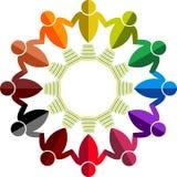 Logo rond de peuples illustration de vecteur