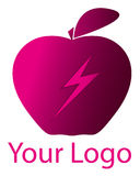 Logo rose d'Apple Image libre de droits