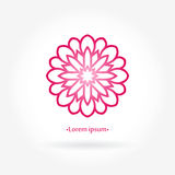 Logo rose de fleur Logotype rose stylisé de fleur Circulaire simple Photo stock