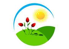 Logo rose. Royalty Free Stock Photos