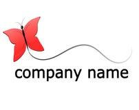 Logo della farfalla Fotografie Stock Libere da Diritti