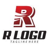 Logo rosso della r Fotografia Stock