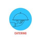 Logo rotondo blu di approvvigionamento illustrazione vettoriale