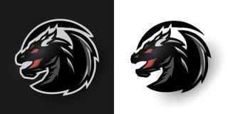 Logo rotondo del drago Due opzioni royalty illustrazione gratis