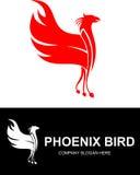 Logo rouge courant d'oiseau de Phoenix Image libre de droits
