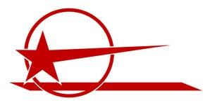 Logo rouge d'étoile. Photos libres de droits
