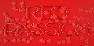 Logo rouge de passion Image libre de droits