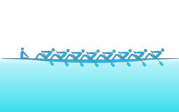 Logo rowing, backgrounds for Sport. Vector Stock Image