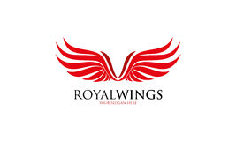 Logo royal d'ailes Images stock