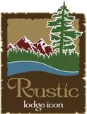 Logo rustique d'extérieur avec l'espace de copie Images stock