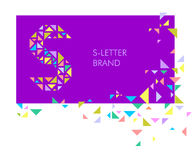 Logo S de lettre de triangle illustration stock
