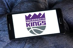 Sacramento Kings American basketball team logo. Logo of Sacramento Kings American basketball team on samsung mobile. The Sacramento Kings are an American Stock Photo