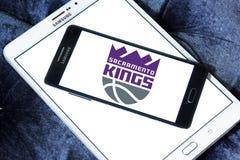 Sacramento Kings American basketball team logo. Logo of Sacramento Kings American basketball team on samsung mobile. The Sacramento Kings are an American Stock Photography