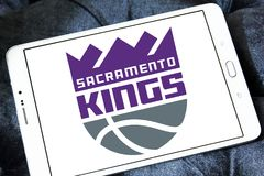 Sacramento Kings basketball team logo. Logo of Sacramento Kings club on samsung tablet. The Sacramento Kings are an American professional basketball team Royalty Free Stock Photos