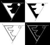 Logo sacro del minimalista di e della lettera di geometry-earth/ illustrazione vettoriale