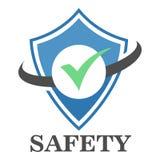 Logo Safe Zone. Computer security eps 10 stock illustration