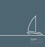 Logo of sailboat in minimal flat style line Stock Images