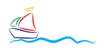 Logo sailing vessel. Royalty Free Stock Photo