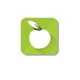 Logo sain d'Apple de vert d'icône de nourriture Photo stock