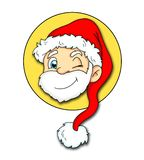 Logo with Saint Claus royalty free stock photo