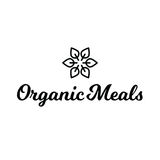 Logo sano dell'alimento organico dei pasti della foglia del fiore Immagine Stock