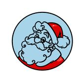 Logo Santa Claus Christmas Royalty Free Stock Photos