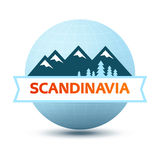 Logo with Scandinavian Landscape Stock Photo