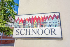 Logo of Schnoor Quarter, Bremen, Germany Royalty Free Stock Photo