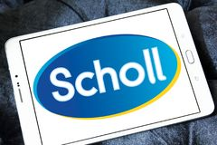 Scholl footcare solutions company logo. Logo of Scholl footcare on samsung tablet  . Scholl provides an ever growing range of footcare solutions Stock Photos