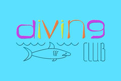 Logo Scuba Diving Photos libres de droits