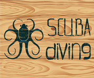 Logo Scuba Diving Photographie stock