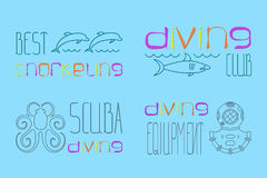 Logo scuba diving Stock Photo