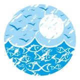 Logo sea. Royalty Free Stock Image
