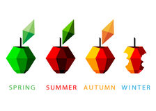 Logo season, apple. Royalty Free Stock Image