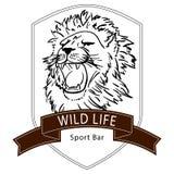 Logo selvaggio di vita del leone Fotografia Stock Libera da Diritti