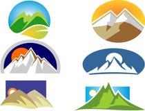 Logo semplice della montagna Fotografie Stock