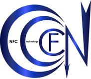 Logo senza contatto di NFC di tecnologie di pagamento Fotografia Stock