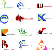 Logo (set 1). Set of 12 logos for your company Stock Images