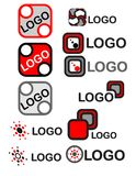 Logo set 1. Logo set or objects for flags or tags Royalty Free Stock Image