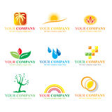 Logo set. Colorful logos and icon set