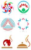 Logo set. Isolated line art logo set Stock Image