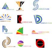 Logo (set 2). Set of 12 logos for your company Royalty Free Stock Photos